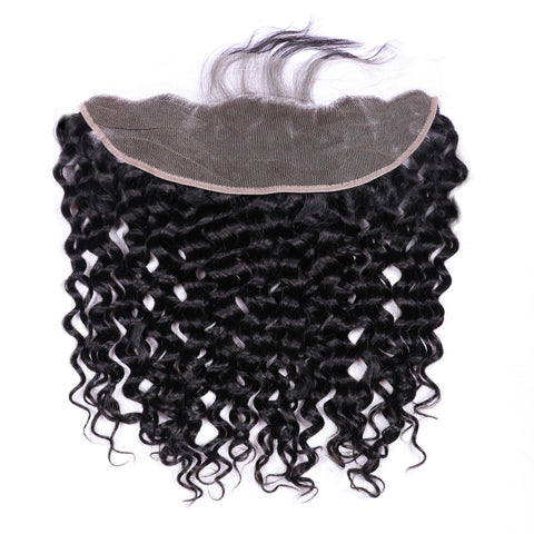 Brazilian Water Wave Human Hair 3 Bundles With Lace Frontal 13x4 inch With Bundle Ear To Ear Remy Hair