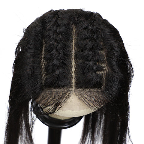 Body Wave Human Hair Bundles With 13X6  Transparent Lace Frontal Brazilian Remy Hair Pre Plucked