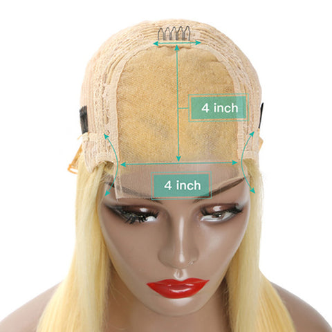 4x4 Closure Wig  5x5 6x6 613 Honey Blonde Brazilian Wig Remy Hair Body Wave Wig Glueless Transparent Lace Front Human Hair Wigs for Women
