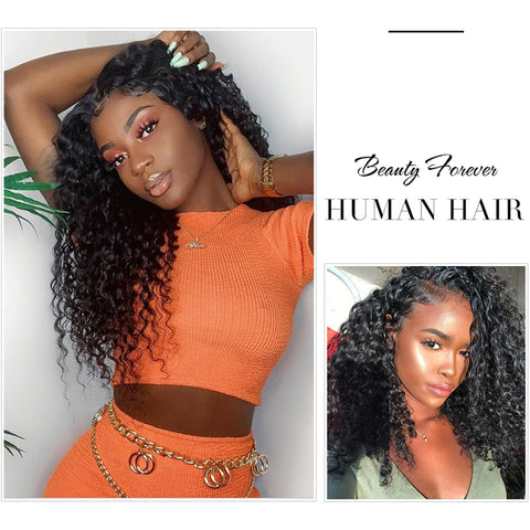 Pegasus Malaysian Curly Human Hair Bundles With Closure 4*4 Closure Free/Middle/Three Part 100% Remy Hair Extension