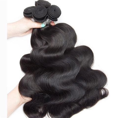 "Brazilian Body Wave Hair Weave Bundles Natural Color 100% Human Hair weave 3/4 Piece 8-30"" Remy Hair Extensions"