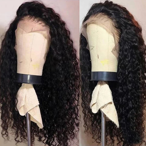 Water Wave Transparent Lace Remy Human Hair Frontal Closure Wigs 4x4 5x5 13x4 Glueless Brazilian Natural Color 150% 180% Density Wigs For Women