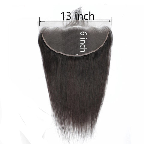 13x6 Ear to Ear swiss Transparent Lace Frontal Natural Color Brazilian Straight body deep loose water spanish wave kinky curly100% Remy Human Hair