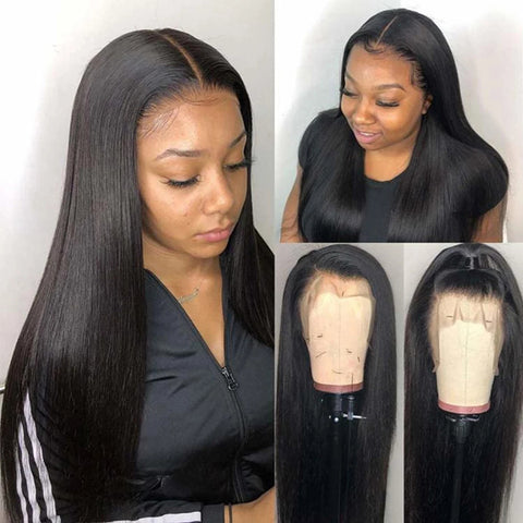 Transparent Lace Frontal Wig 13x4 Straight 150% 180% Remy 30 inch Lace Wig Brazilian Human Hair Wig