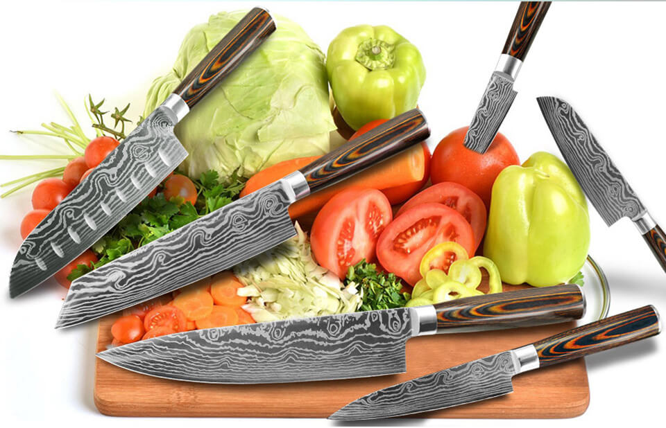 5 Piece High Carbon Steel Knife Set | Letcase Knives