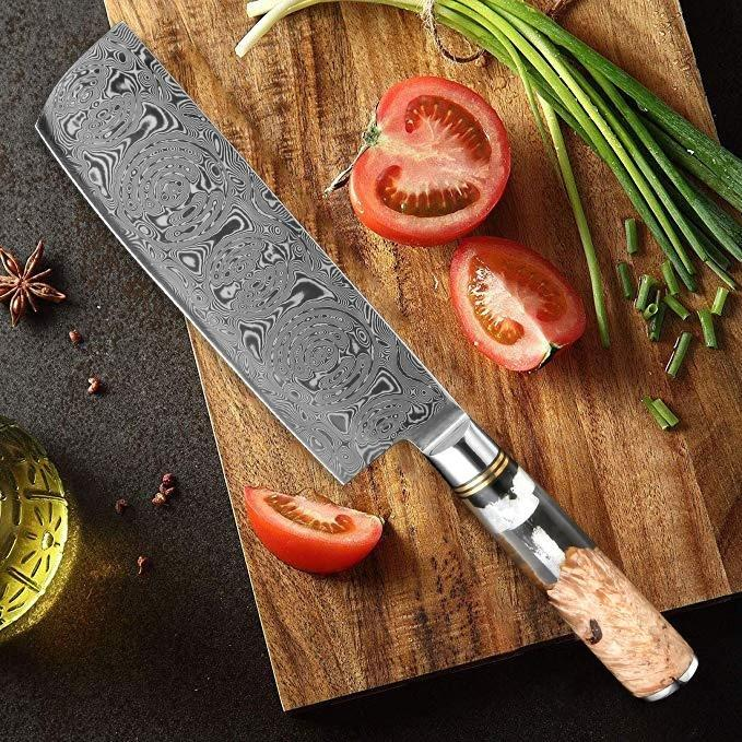 best cleaver knife, damascus meat cleaver
