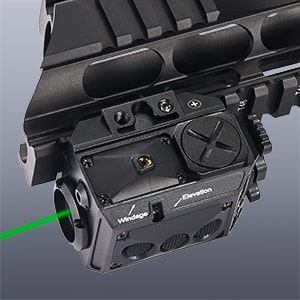 Compact Green Laser and LED Light Combo for Pic Rail Pistols and Rifles