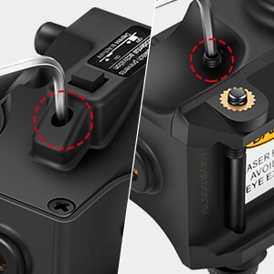 Easy-to-Use Windage and Elevation Adjustments Green Dot Laser Sight