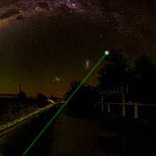 Far-reaching green laser with unparalleled brightness and clarity
