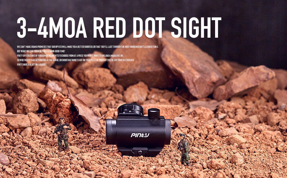 Pinty Tactical 3-4 MOA Red Dot Sight