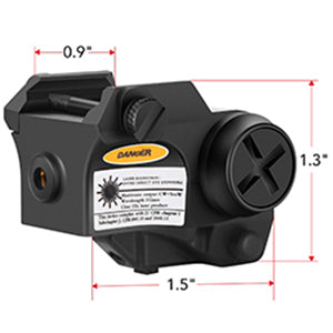 Small Size Green Laser Sight Dimensions