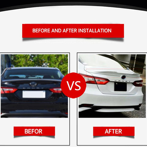 NINTE Toyota Camry 2018-2020 TRD Style ABS Painted Trunk Spoiler Rear Wing