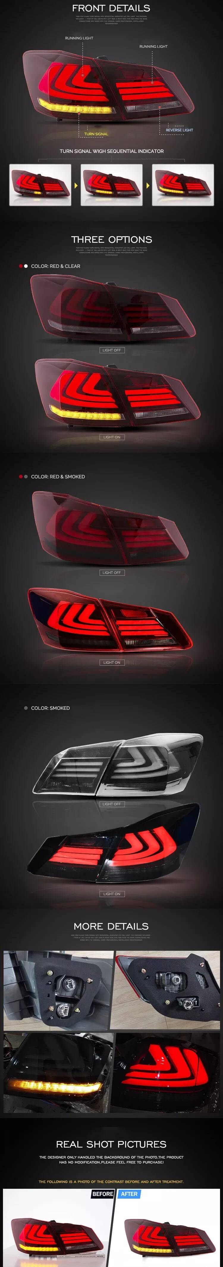 NINTE taillights for Honda Accord 2013-2015 detail