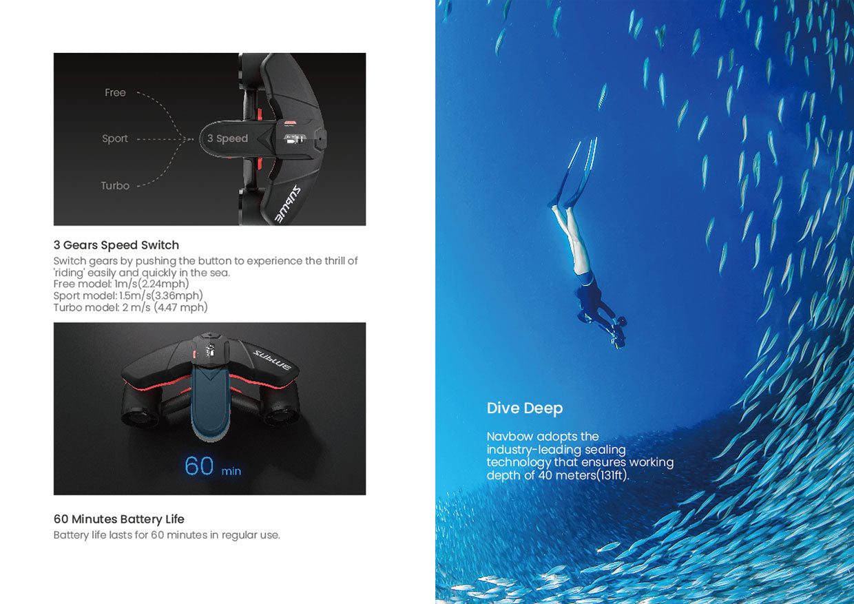 Sublue Navbow underwater scooter superior experience