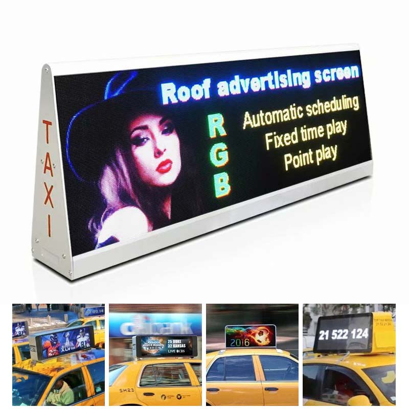 Double Face LED WiFi Taxi Roof LED Display LED Screen Car Advertising Digital Taxi Top Advertising Sign