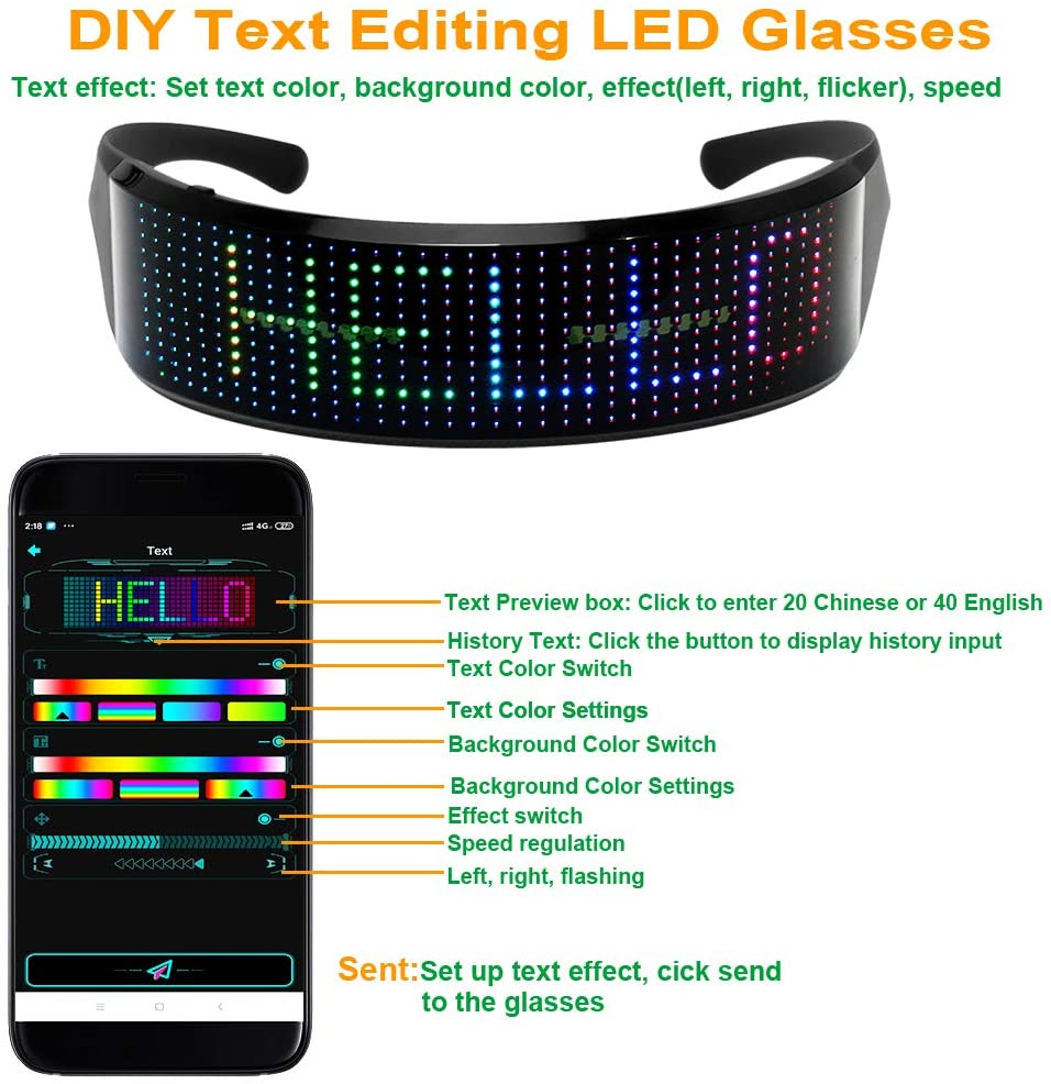 LED glow glasses