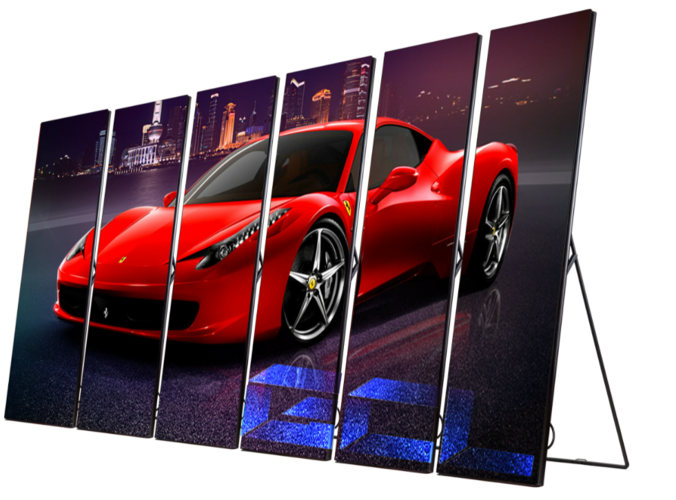 Full color standing floor indoor led advertising screen P2.5 poster led display