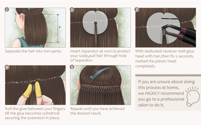 how to wear u tip hair extensions?