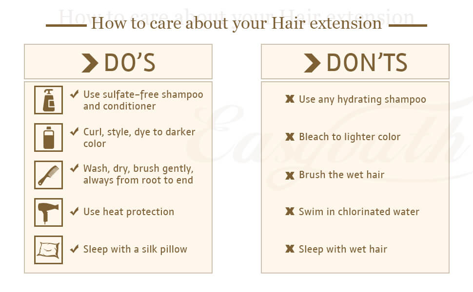 How to care you hand tied human weft extensions