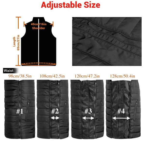 Battery Heated Vest For Men 8