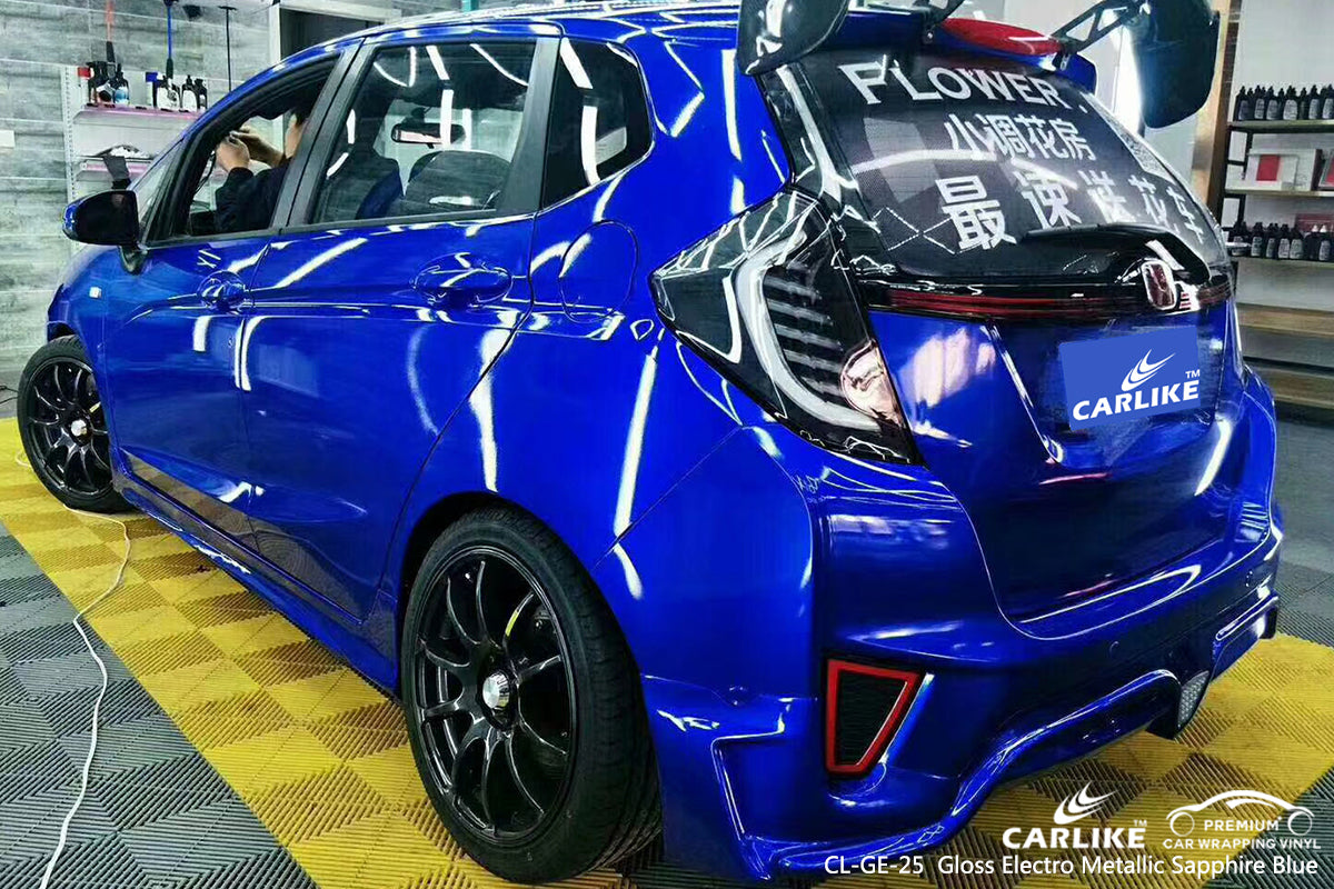 CARLIKE CL-GE-25 gloss electro metallic sapphire blue car wrap foil Berlin Germany