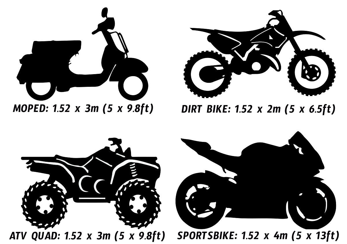 Bike Wrapping Vinyl Size Guide