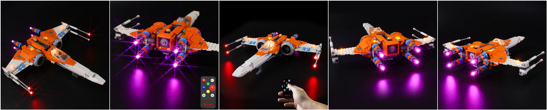 light up lego poe dameron's x-wing fighter