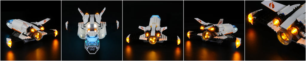 lego city mars research shuttle with lights