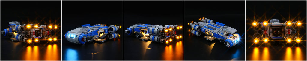 lego resistance i ts transport with lights