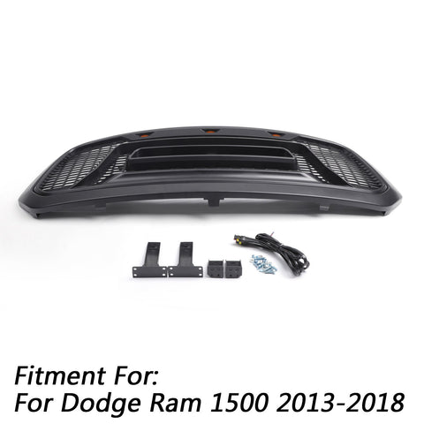 Ram 1500 2013-2018 Grill ABS Honeycomb Bumper Grill Mesh Rebel Style BLK