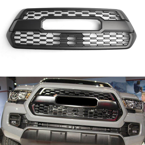 Front Bumper Hood Grill Matte For Toyota Tacoma TRD PRO 2016-2018 Black