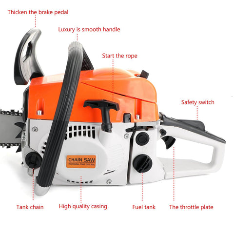 20'' 52CC Chain Saw Cutting Wood Aluminum Red Chain Saws Best Gasoline Chainsaws for Sale