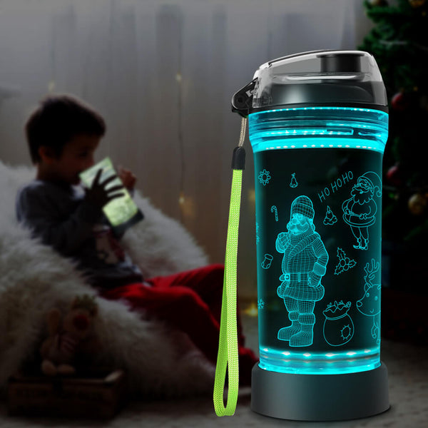 Santa water bottle