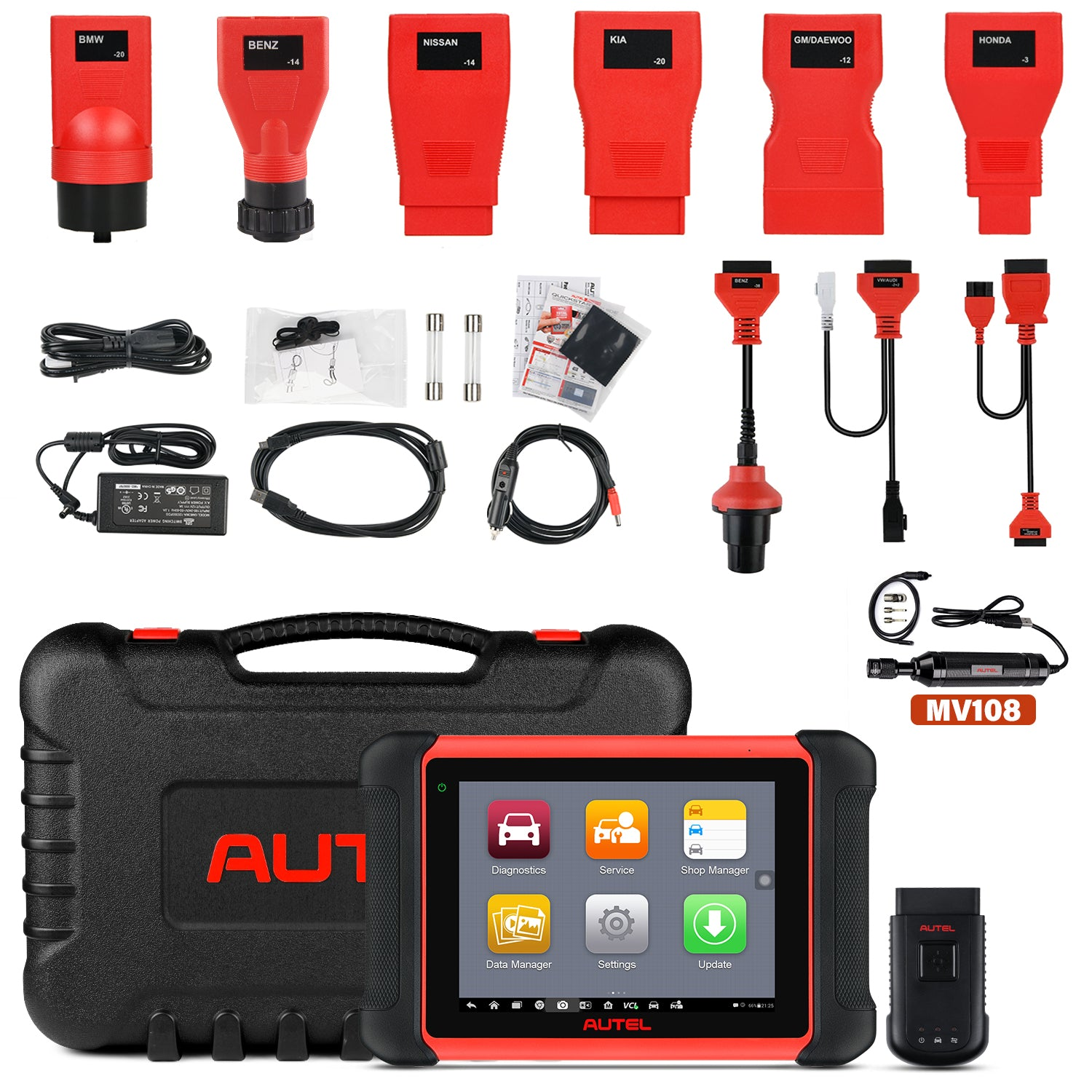 Autel MK906BT Package Content