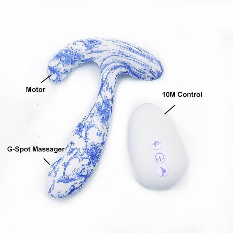 Gadgetlly Blue and White Porcelain Anus Toys