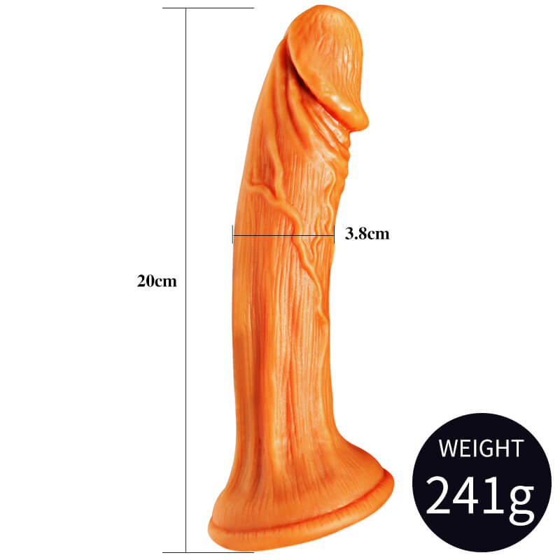 Golden Suction Realistic Women Dildo 7 Inch