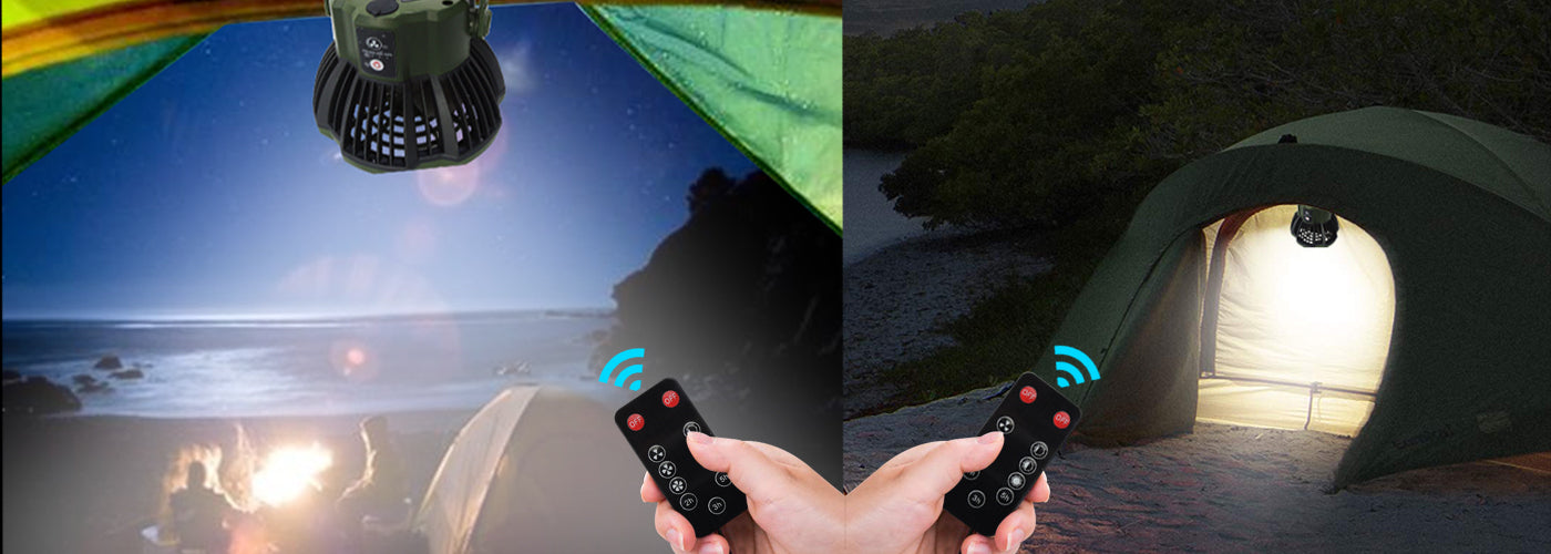 camping fan with remote control