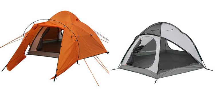 dome camping tent with double layers for 3-4 person