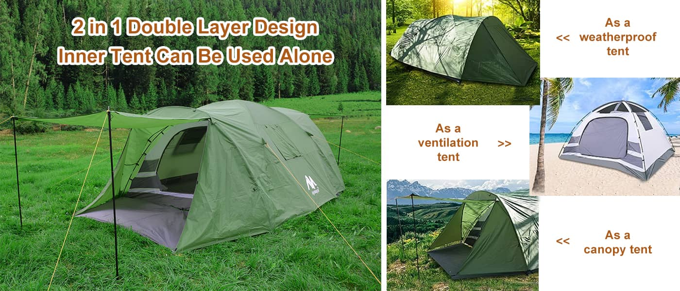 ayamaya family tent for 4 6 8 person