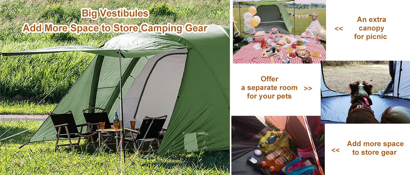camping tent with big room