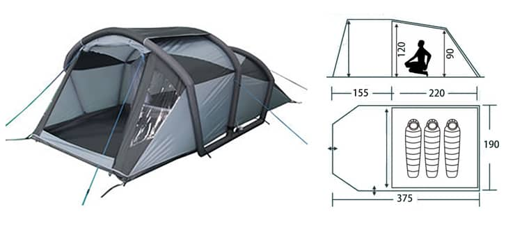 inflatable tent for 3-4 person