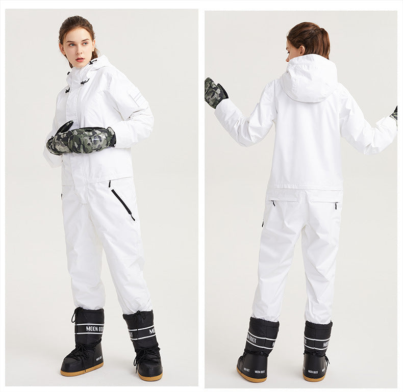 Men's Northfeel Hygge One Piece White Snowuits Ski Jumpsuits