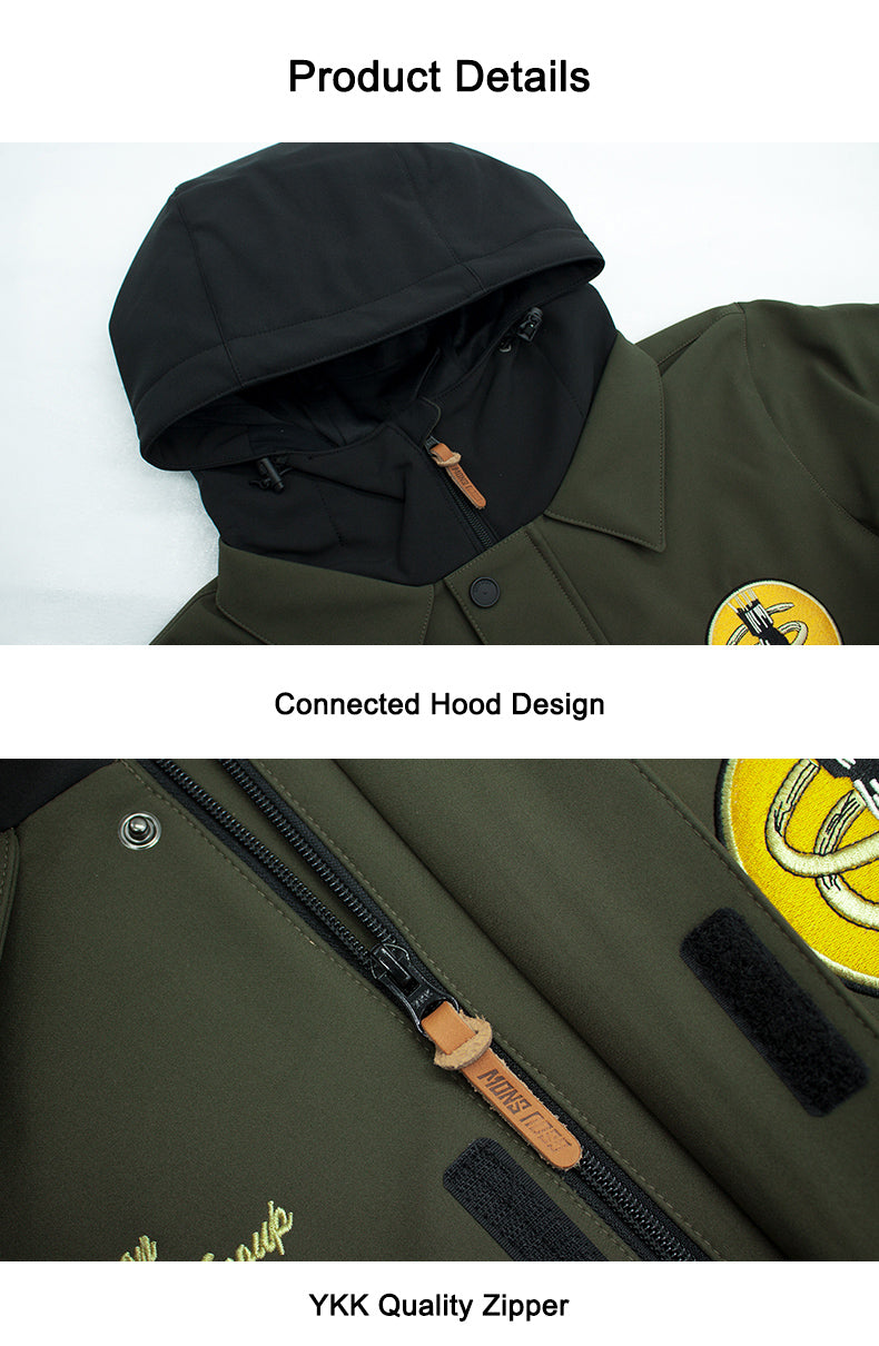 Men's Gsou Snow 13th Bombardment Group Special Collection 15k Waterproof One Piece Snowboard Suits