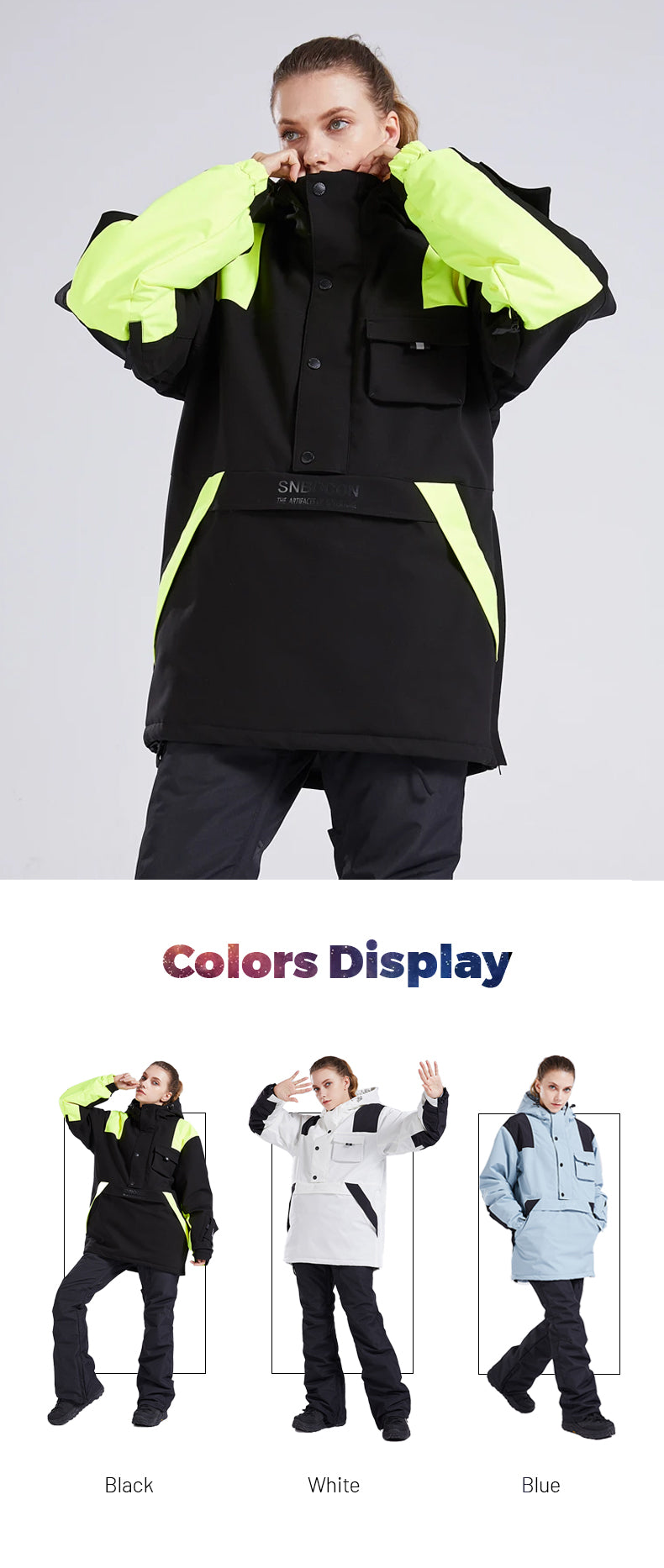 Women's Mad Craft Classic Ladies All Weather Functional Snow Jacket