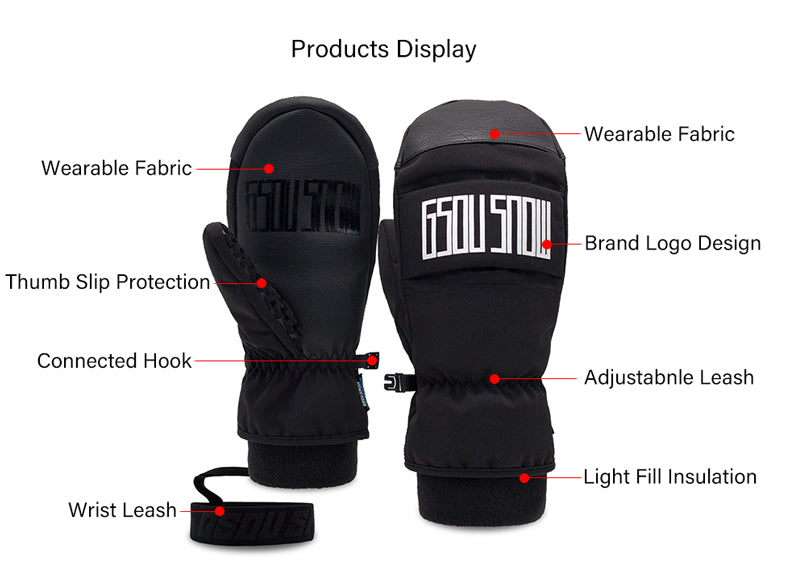 Women's  Gsou Snow Winter Discover All Weather Snow Mittens
