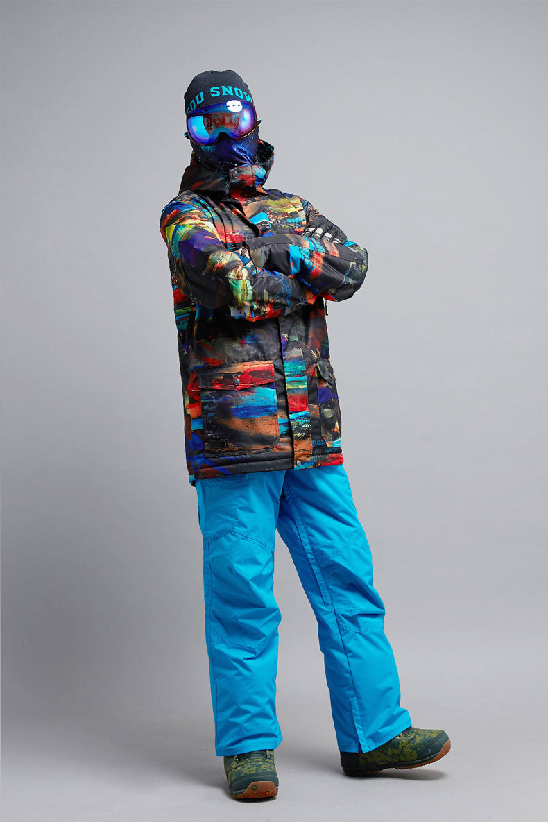 Men's Mountain Elite Sunset 15K Insulated Snowboard Suits Gsou Snow