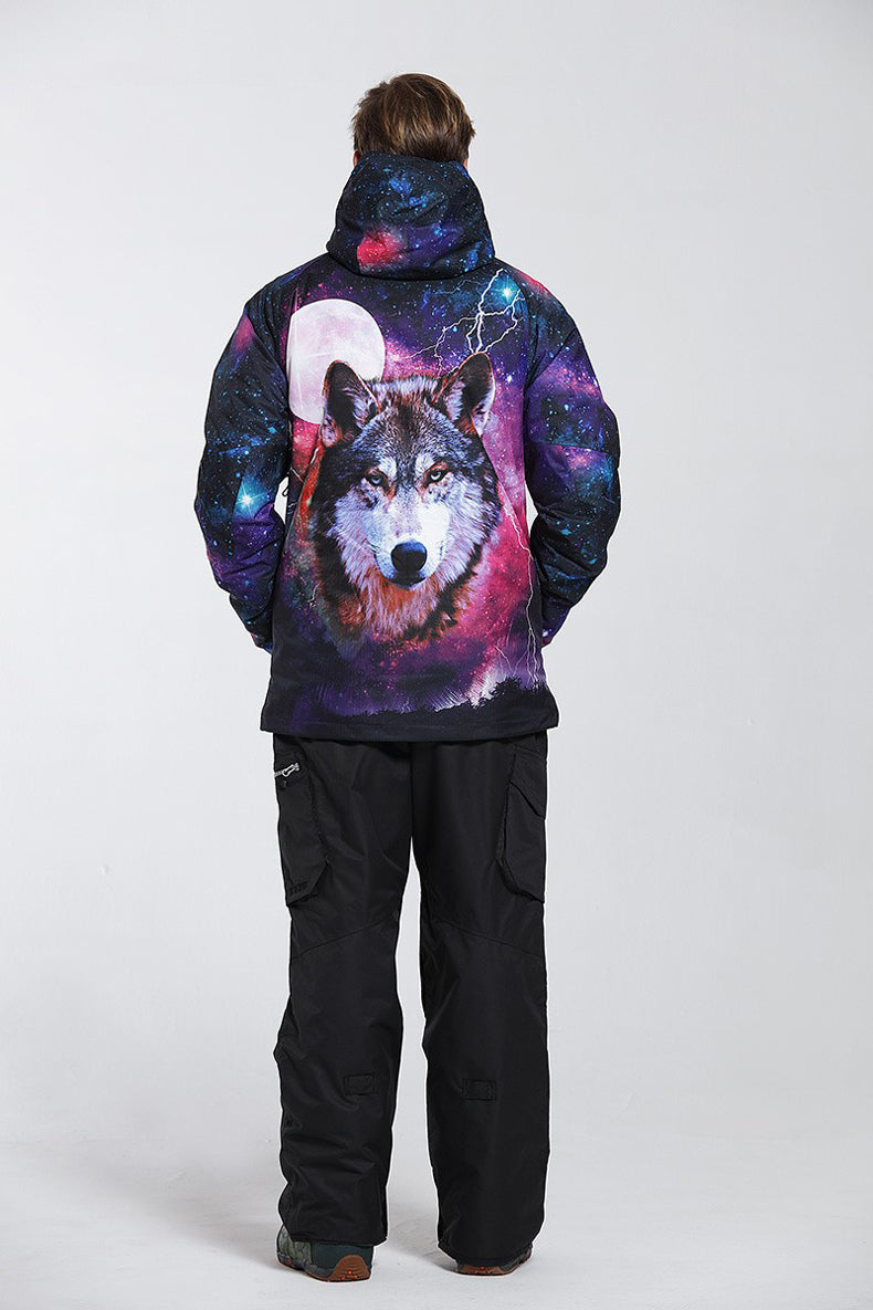 Men's Gsou Snow 10k Mountains Wolf 3D Printed Snowboard Suits