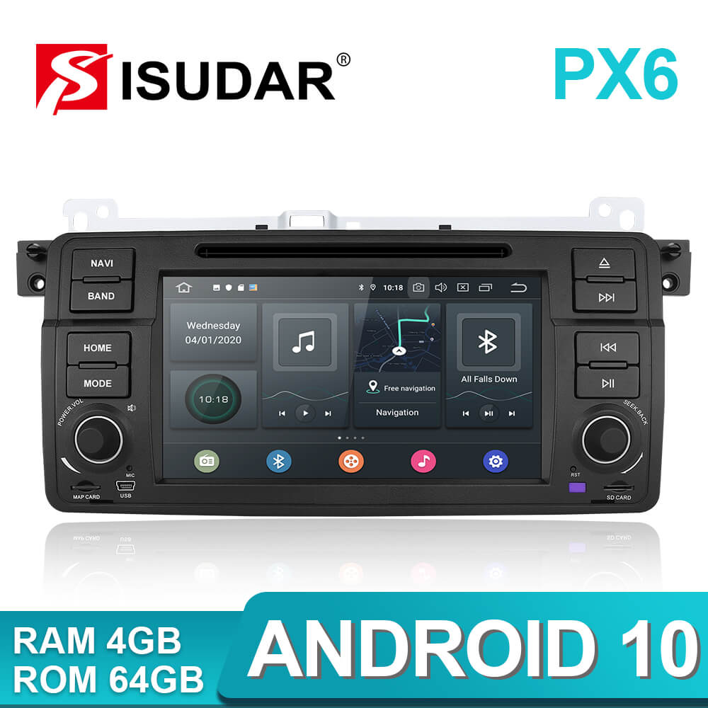 Isudar android 10 px6 car radio for bmw E46