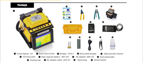COMWAY fusion splicer kit
