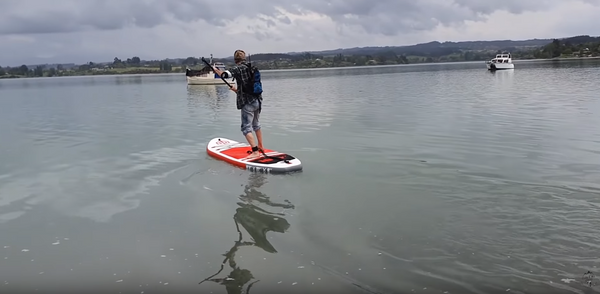 paddle with your weight forward